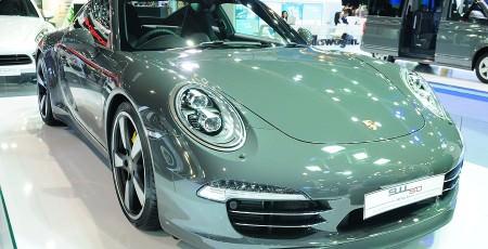 Bkk - Nov 28: Porsche 911 (50Th Anniversary Edition) On Display